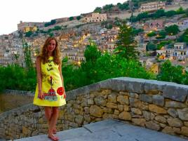 Modica Is Love: Dolce & Gabbana Yellow Dress Italia Is Love Modica Sicily Photography