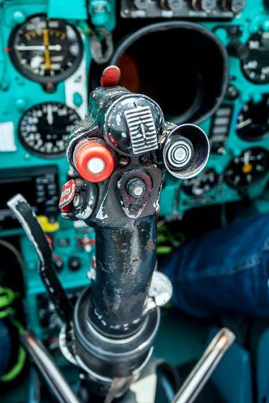 Velika Gorica, 080618. Zracna baza Pleso. Reportaza o hrvatskoj eskadrili vojnih zrakoplova. Na fotografiji: cockpit MIGa21. Foto: Tomislav Kristo / CROPIX