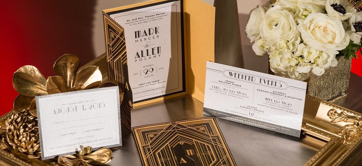 Inspirace svatby ve stylu Art Deco