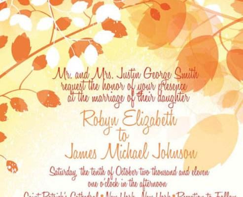 Podzimní svatební oznámení