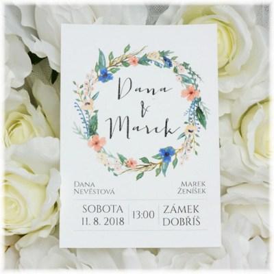 Boho svatební oznámení