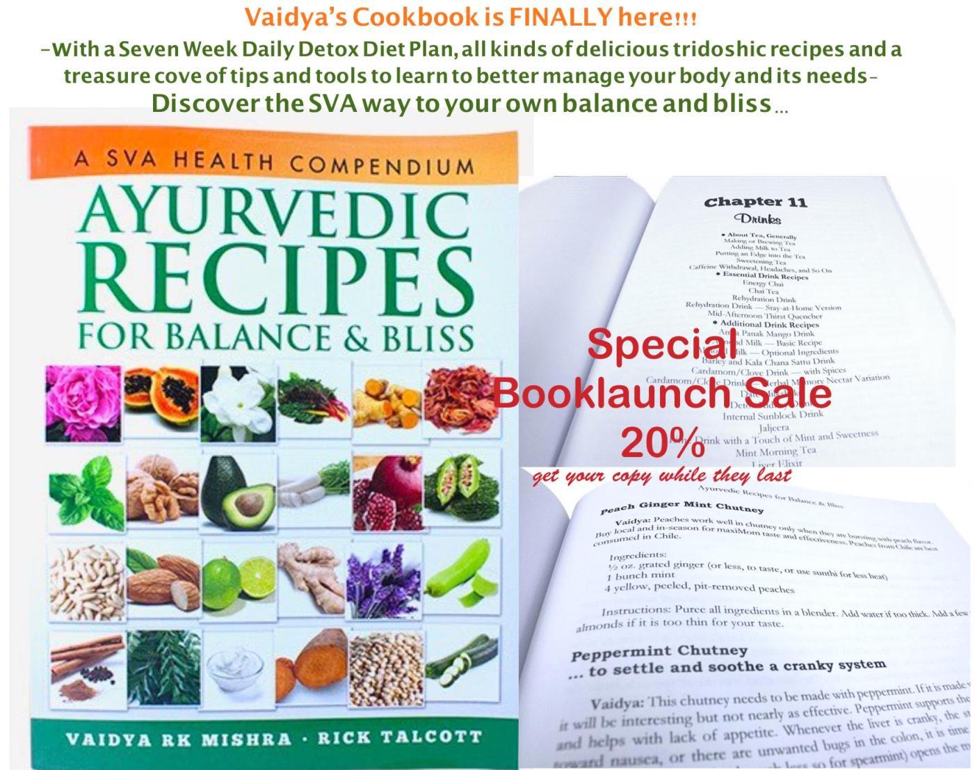 Ayurvedic Recipes For Balance & Bliss - Cooking Book • Shaka Vansiya