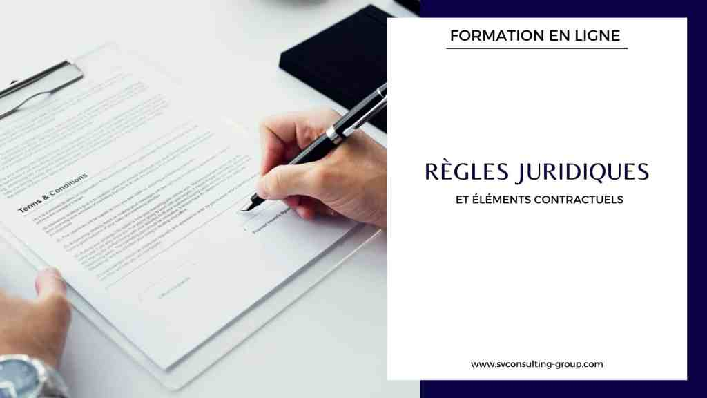 Formation Contrat Règles juridiques - SV Consulting