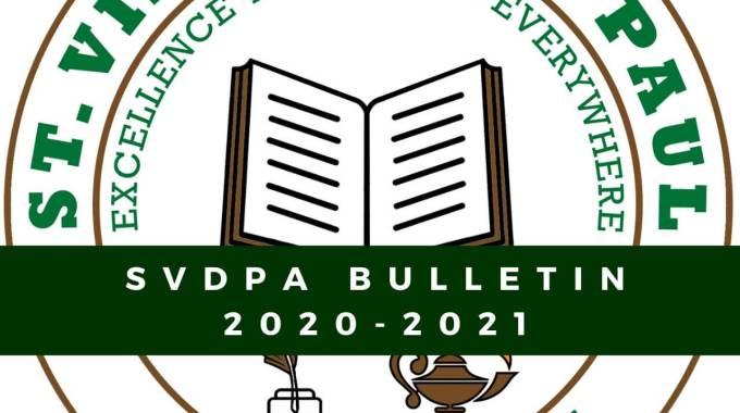 SVDPA's Bulletin For Academic Year 2020 – 2021