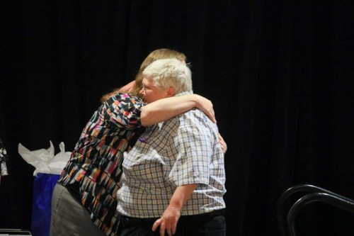 Jennifer Clark and Pay It Forward Award winner Janet Bowman. Photo by Frankie Steele