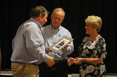 Community Partner of the Year Award winner Dave Schlosser, Ed Wnorowski and Donna Young. Photo by Frankie Steele