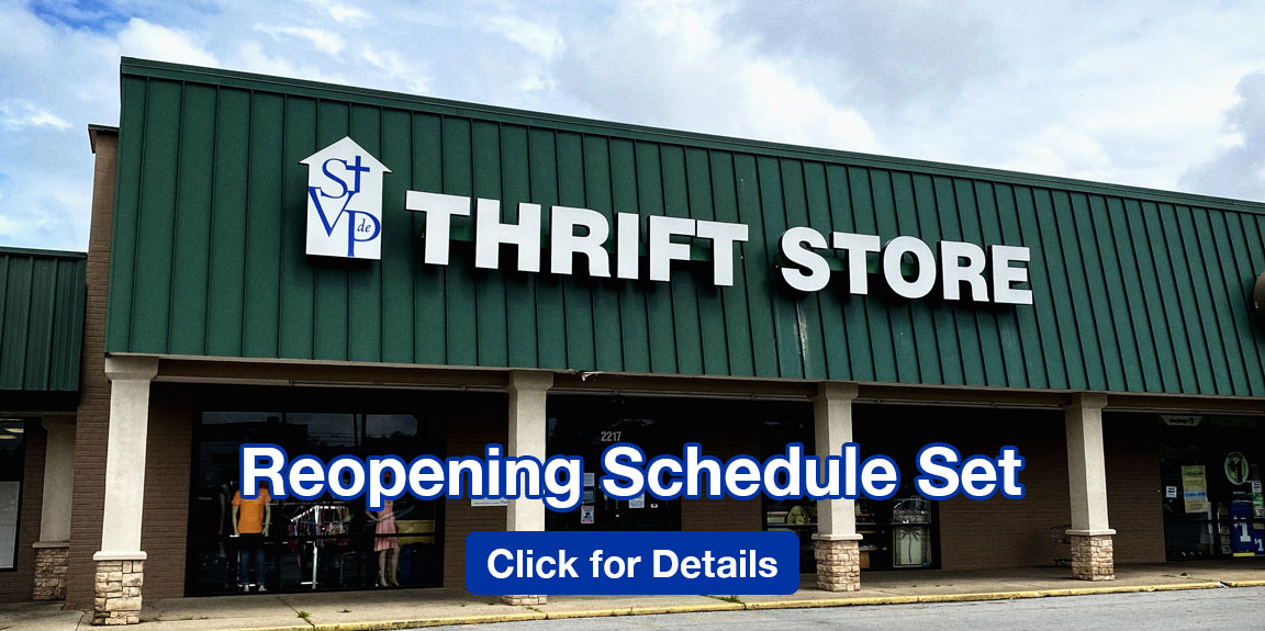 Thrift Stores Reopening Schedule Set