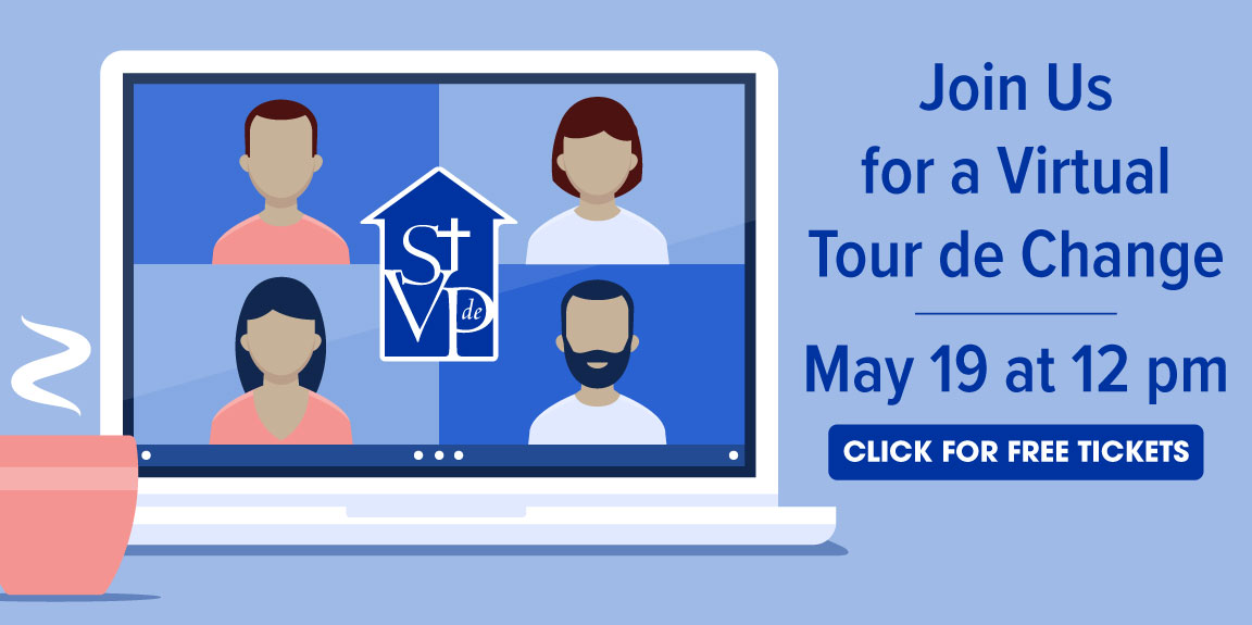 Virtual Tour de Change at St. Vincent de Paul Louisville