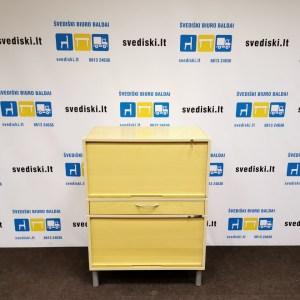 Švediški Lt. Thule Mobler komoda su žaliuzinio tipo pakeliamomis ir rakinamomis durimis yra stalšius