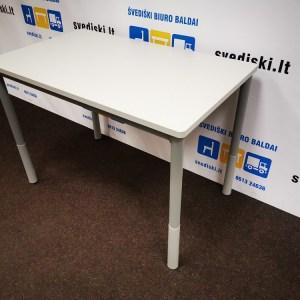 Švediški lt.Pilkas Stalas Su Užapvalintais Kampais Ir Reguliuojamomis Kojomis, Švedija