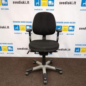 Švediški lt RH Logic 300 Juoda Biuro Kėdė Su Reguliuojamais Porankiais, Švedija