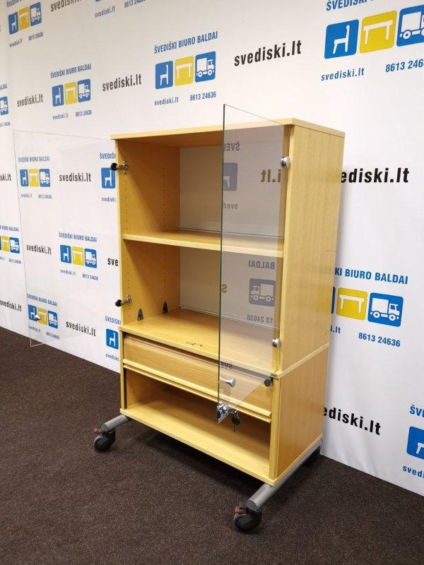 Švediški.lt Kinnarps Buko Rakinama Spintelė Su Skaidraus Stiklo Durelėmis, Švedija