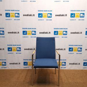 Švediški.lt Martela Mėlyna Lankytojo Kėdė Su Chromuotu Rėmu, Švedija