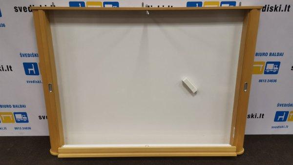 Švedija.lt Magnetinė lenta Ir Projektorius Uždaromoje Buko Spintelėje, Švedija