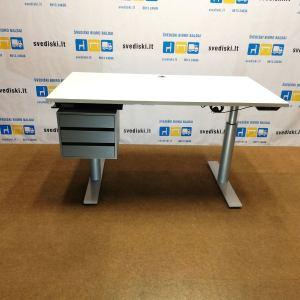 svediski.lt B8 System 3000 Reguliuojamo Aukščio Stalas Su Pilka Stalčių Dėžute, Švedija