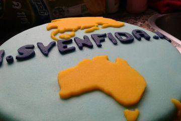 Sven Fida travel reizen taart bakjetaart.nl afscheid