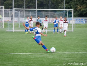 Zaterdag 12 september, eerste wedstrijd van de competitie tegen Fortius.