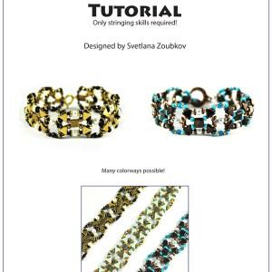 Aya Bracelet Beading Pattern Tutorial.