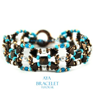 Aya Bracelet Tutorial. Quick and easy to make beading pattern.