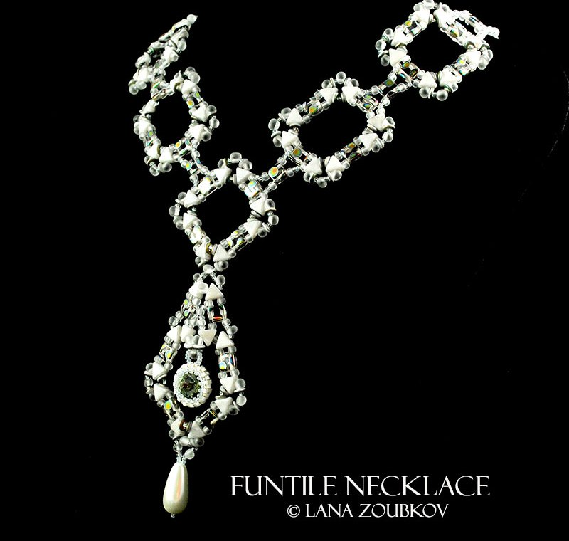 Funtile Necklace in White