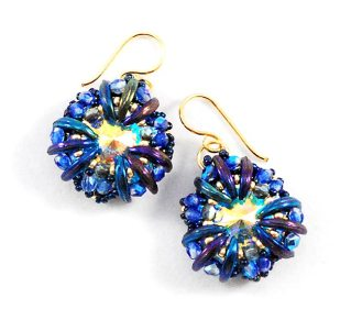 Nabia Earrings Bead Pattern and Tutorial by Svetlana.Gallery