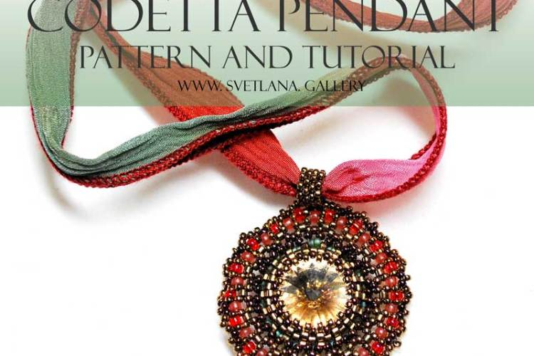 Codetta Beaded Pendant Pattern and Tutorial by Svetlana
