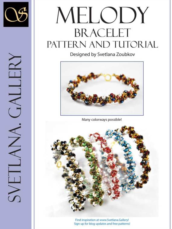 Melody Bracelet Bead Pattern and Tutorial Cover