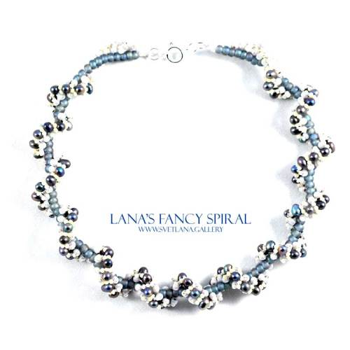 Lana's Fancy Spiral Pearl Version with freshwater pearls - Bead Pattern Gallery