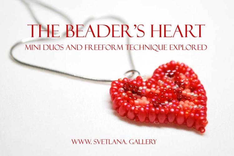 Beaded Heart Pendant: Mini Duos And Freeform Beadweaving Technique Explored