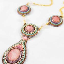 Spring Necklace With Rose Quartz