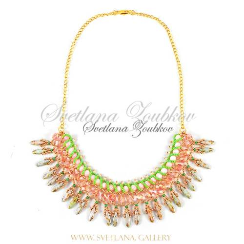 Nerita Necklace Variation - Pink Crystals