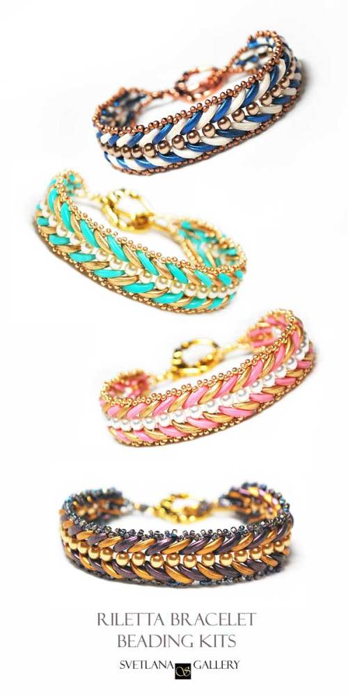 Riletta Bracelet Beading Kits - 4 color variations available