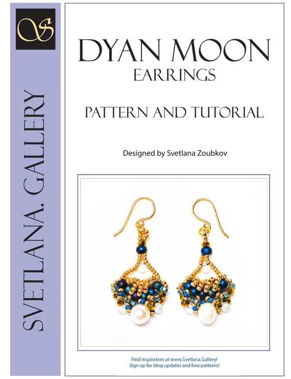 Dyan Moon Beaded Earrings Pattern Tutorial - Svetlana.Gallery