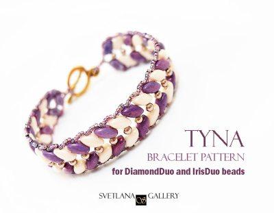 Tyna Bracelet Pattern Tutorial for Diamond Duo or Iris Duo beads
