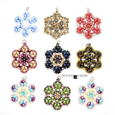 Crystallina Pendant Bead Pattern Tutorial designed by Svetlana Zoubkov