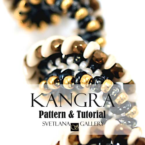 Kangra Crescent Bead Pattern and Tutorial