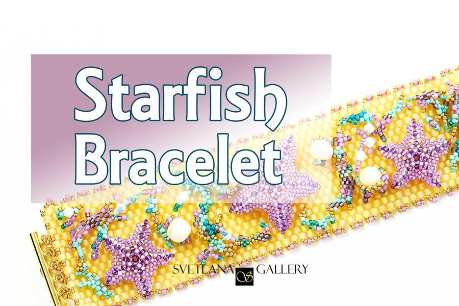 Starfish Peyote Stitch Beaded Bracelet Idea - Svetlana.Gallery