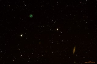 M97 i 108 (Owl nebula i spiralna galaksija), 6 light frames, ISO400