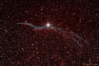 NGC6960 (Veil nebula), 12 light frames, ISO400