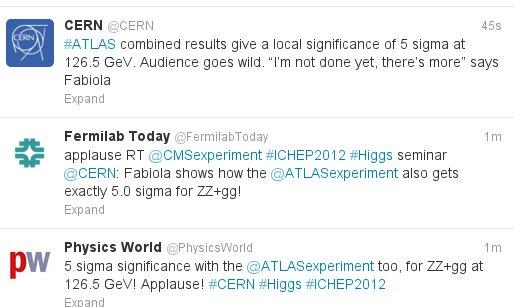 5 sigma za Higsa! (ATLAS) - Higs je pronađen ! ! ! 2