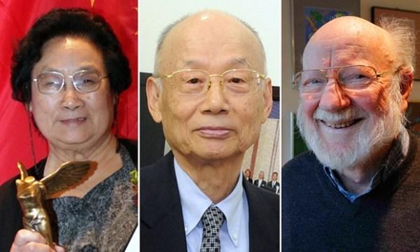 Dobitnici Nobelove nagrade za medicinu za 2015. godinu: L-R: Youyou Tu (pic: Wang Chengyun/Xinhua Press/Corbis), Satoshi Omura (pic: Kyodo/Reuters), William C. Campbell (pic: Reuters/Brian Snyder) Photograph: Corbis/Reuters/Corbis/Reuters