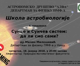 """Predavanje: """"Sunce i Sunčev sistem: da li smo sami?"""" 14"""