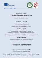 Serija predavanja na Departmanu za fiziku u Nišu 1