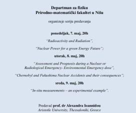 Serija predavanja na Departmanu za fiziku u Nišu 4