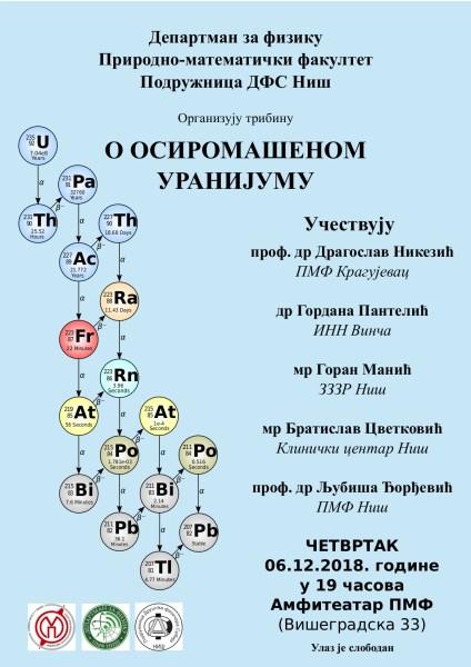 Tribina o osiromašenom uranijumu u Nišu 1