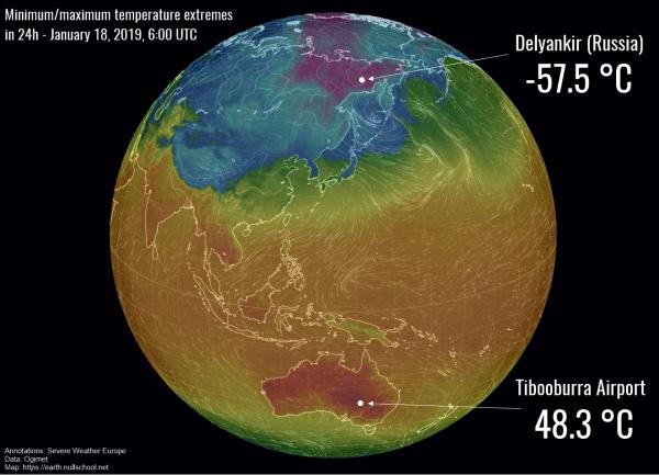Ekstremne temperature na Zemlji 1