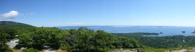 View from the top of the surrounding islands.