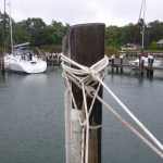 Doubled mooring lines