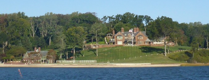 No pictures of Sagamore Hill, but here's Billy Joel's Oyster Bay house instead.