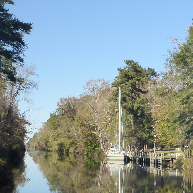 EXIT docked at the Great Dismal Swamp Welcome Center.
